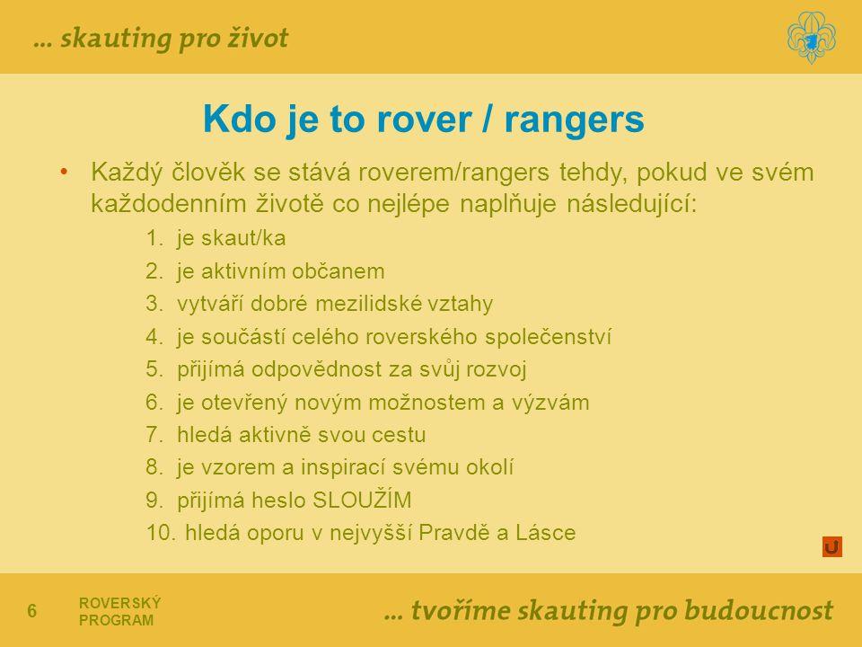 Kdo je to rover / rangers