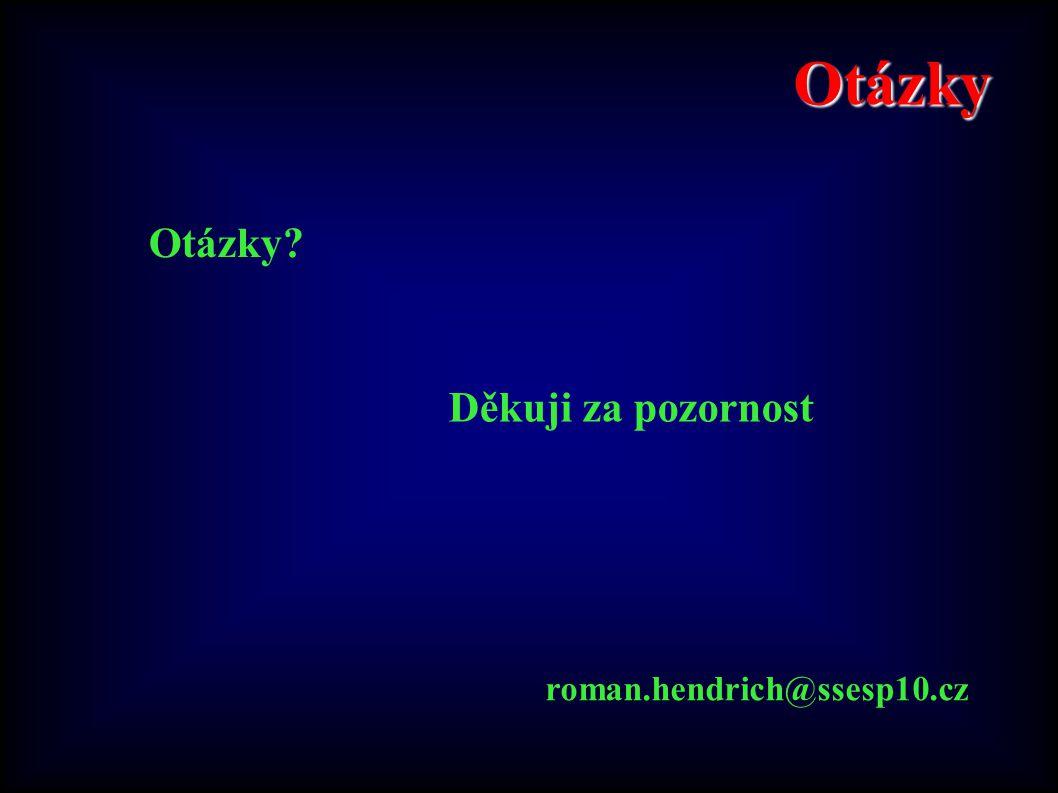 Otázky Otázky Děkuji za pozornost roman.hendrich@ssesp10.cz