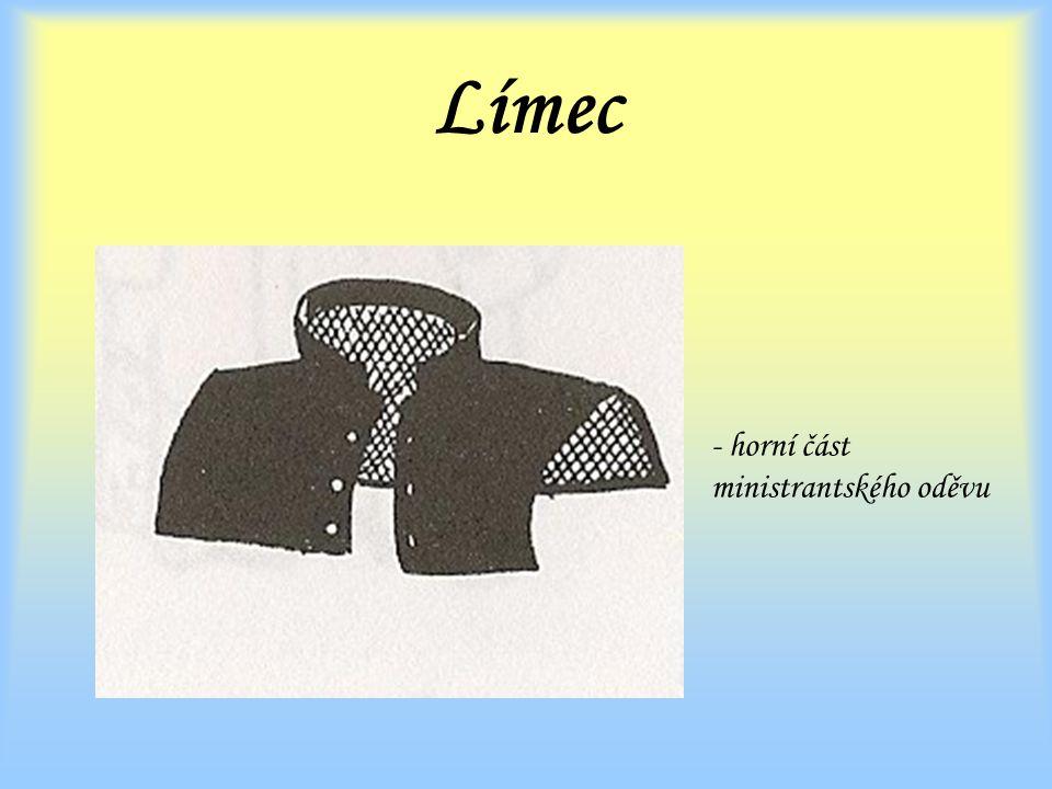Límec - horní část ministrantského oděvu