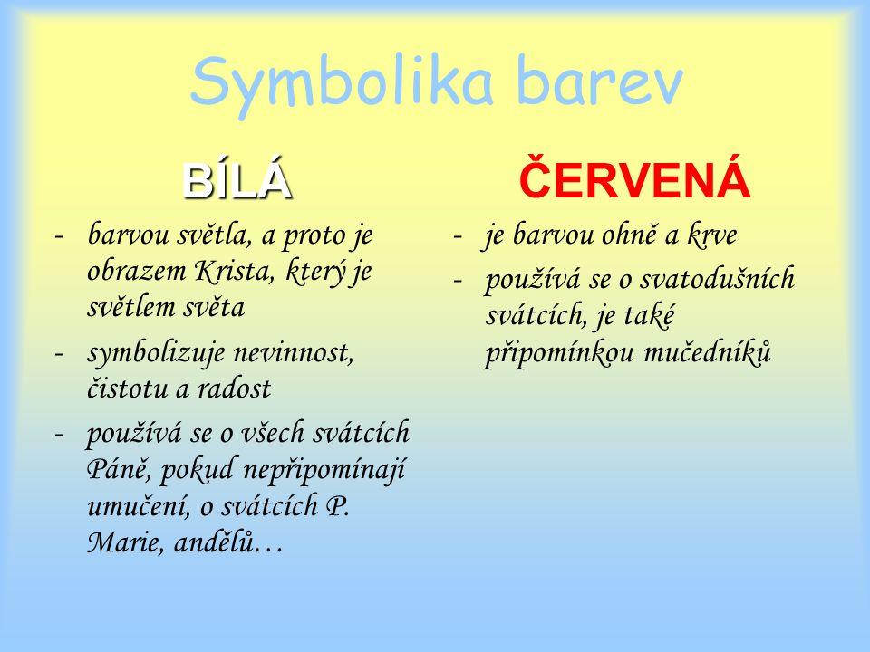 Symbolika barev BÍLÁ ČERVENÁ