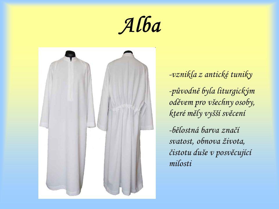 Alba vznikla z antické tuniky