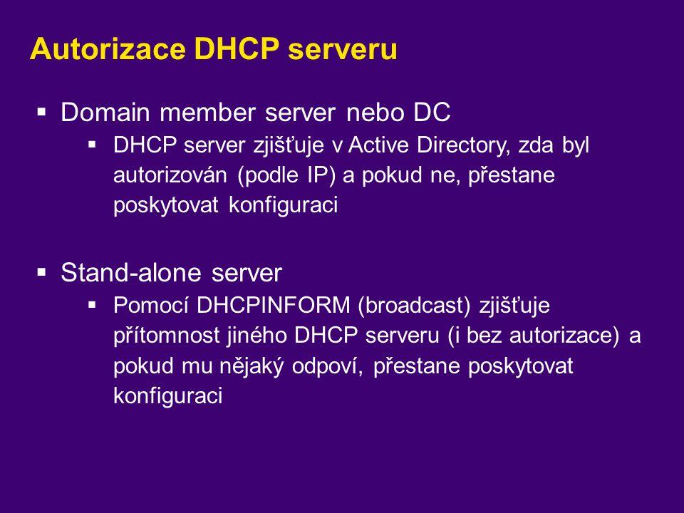 Autorizace DHCP serveru