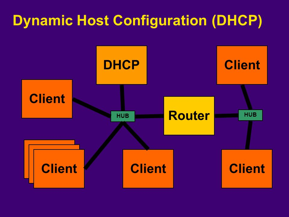 Dynamic Host Configuration (DHCP)