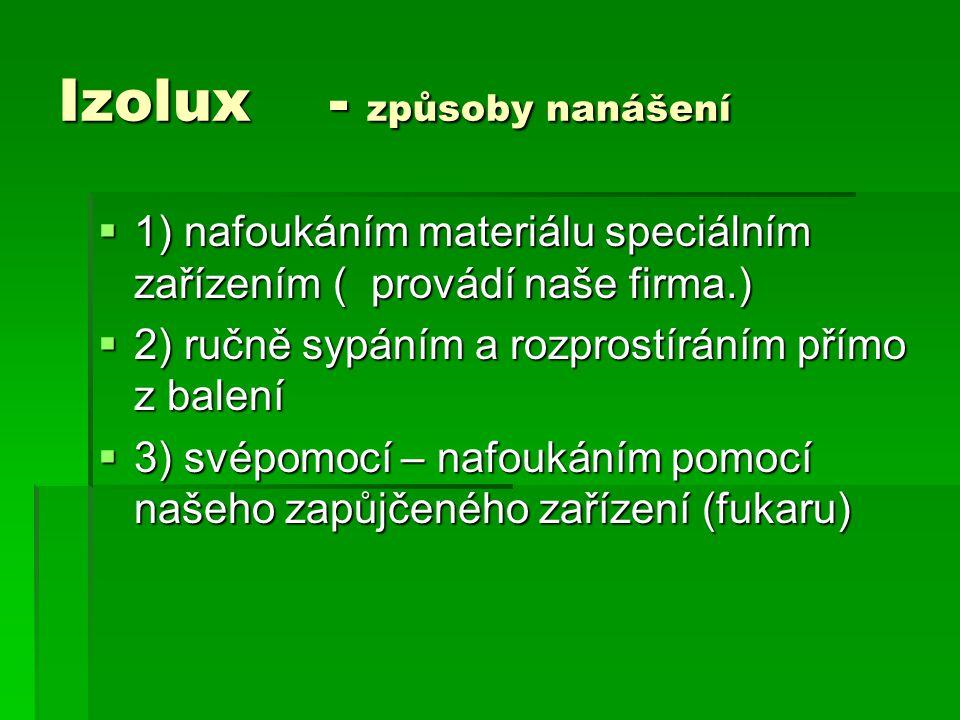 Izolux - způsoby nanášení