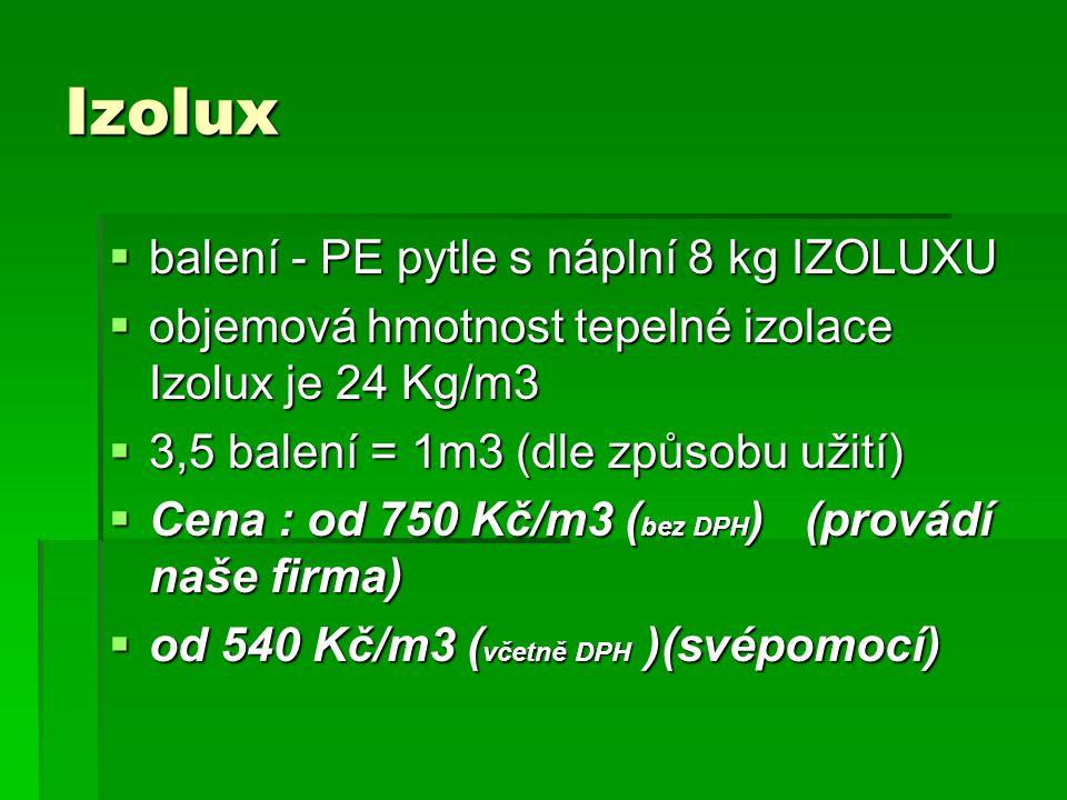 Izolux balení - PE pytle s náplní 8 kg IZOLUXU