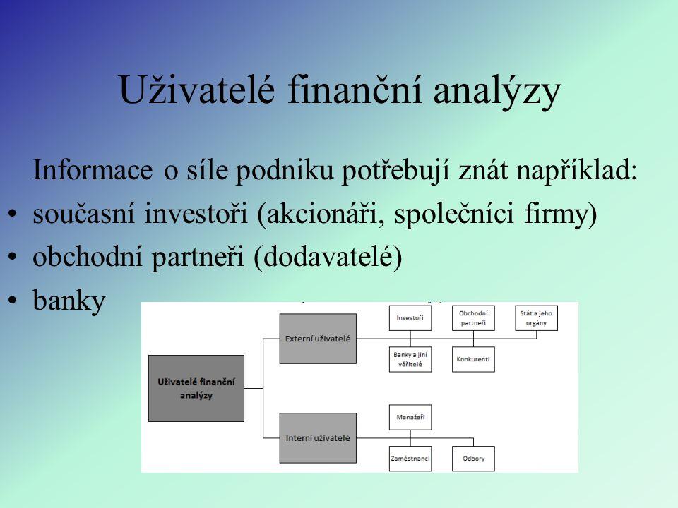 Uživatelé finanční analýzy
