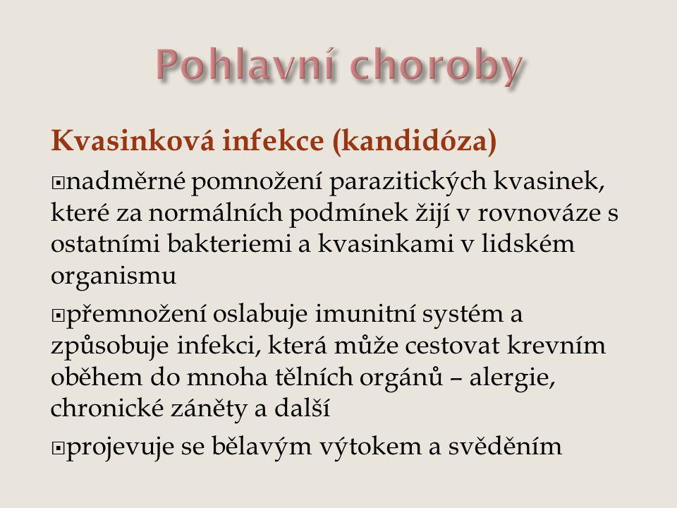 Pohlavní choroby Kvasinková infekce (kandidóza)