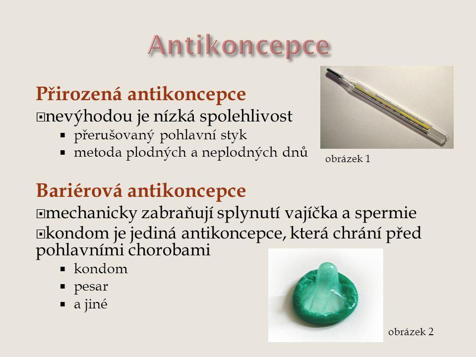 Antikoncepce Přirozená antikoncepce Bariérová antikoncepce