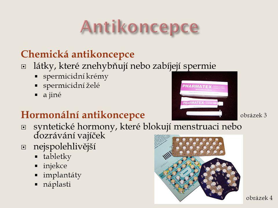 Antikoncepce Chemická antikoncepce Hormonální antikoncepce