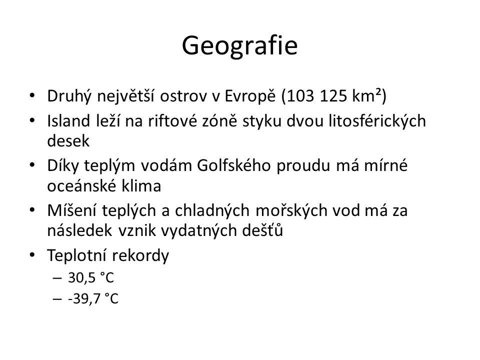 Geografie Druhý největší ostrov v Evropě (103 125 km²)