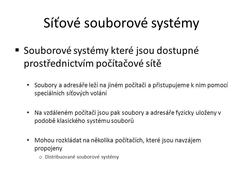 Síťové souborové systémy