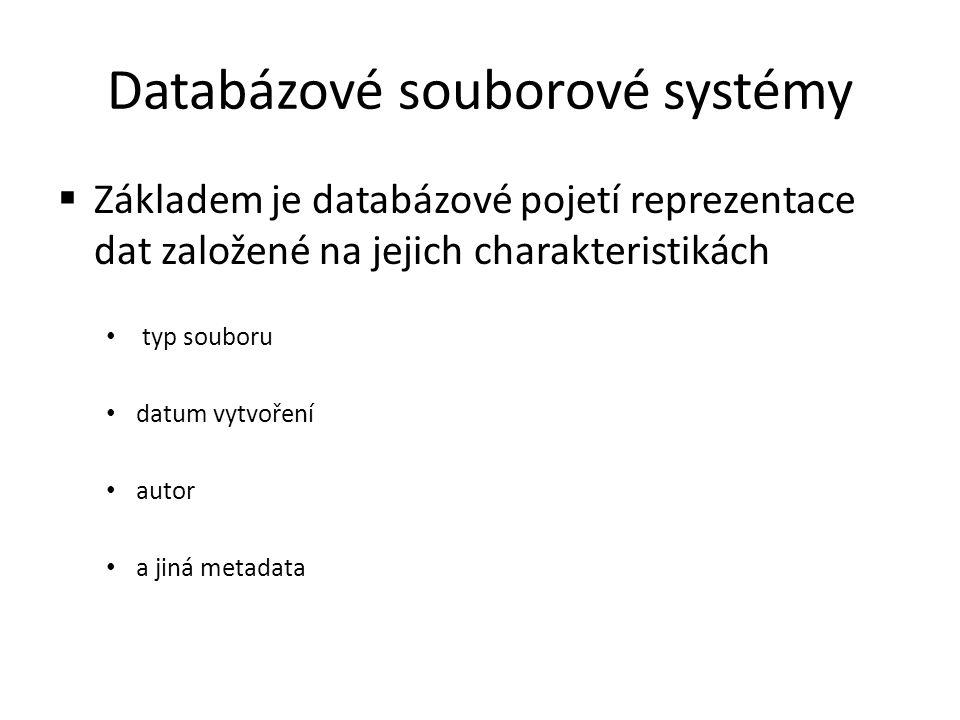 Databázové souborové systémy