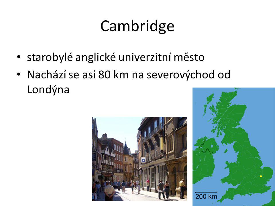Cambridge starobylé anglické univerzitní město