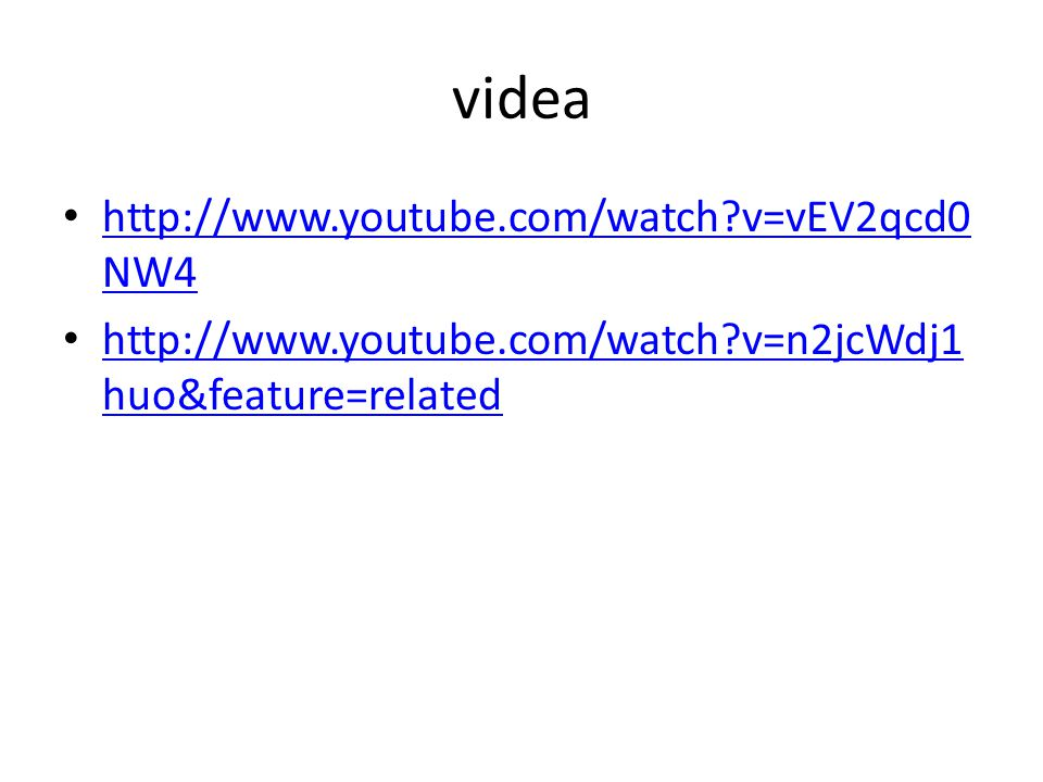 videa http://www.youtube.com/watch v=vEV2qcd0NW4
