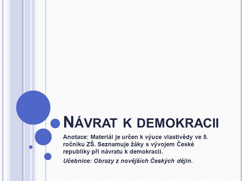 Návrat k demokracii