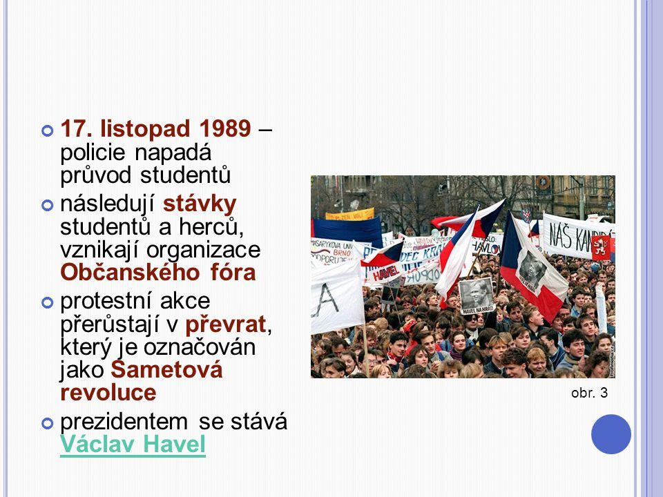 17. listopad 1989 – policie napadá průvod studentů