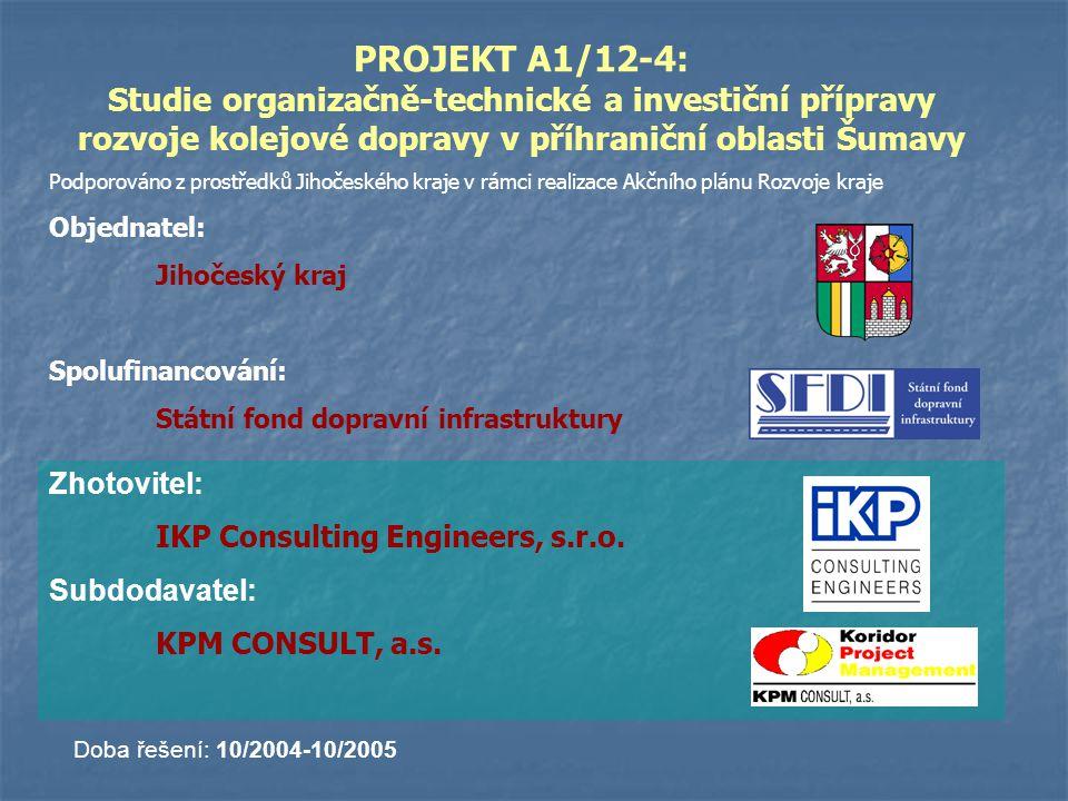 PROJEKT A1/12-4: Studie organizačně-technické a investiční přípravy rozvoje kolejové dopravy v příhraniční oblasti Šumavy
