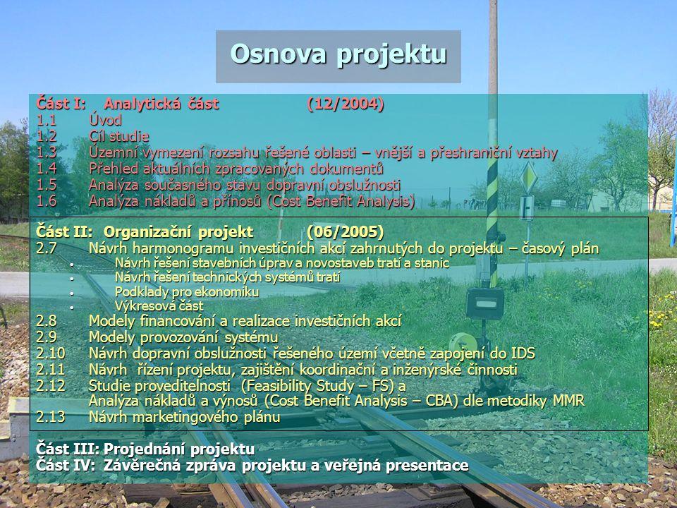 Osnova projektu Část I: Analytická část (12/2004) 1.1 Úvod