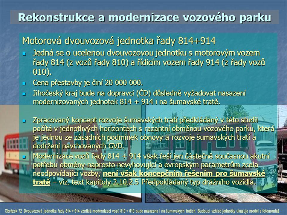 Rekonstrukce a modernizace vozového parku