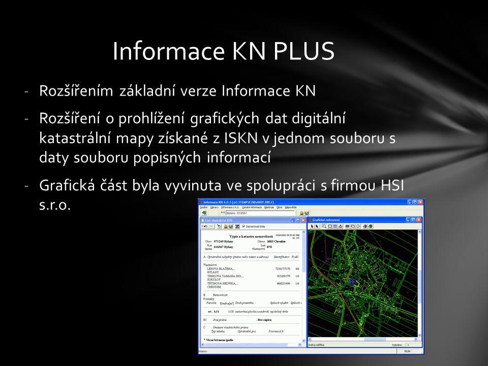 Informace KN PLUS Rozšířením základní verze Informace KN