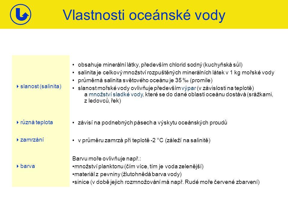 Vlastnosti oceánské vody