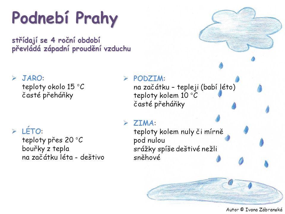 Podnebí Prahy střídají se 4 roční období převládá západní proudění vzduchu