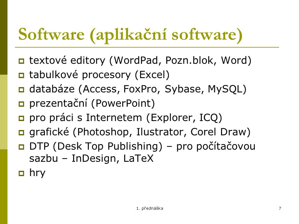 Software (aplikační software)