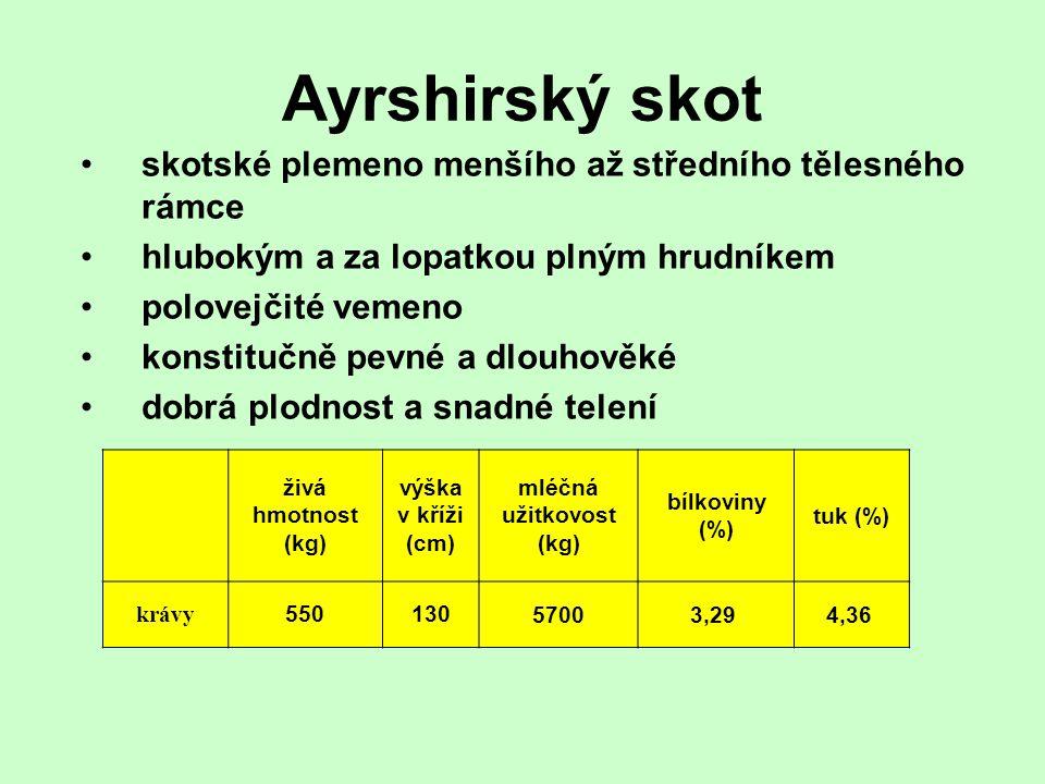 mléčná užitkovost (kg)