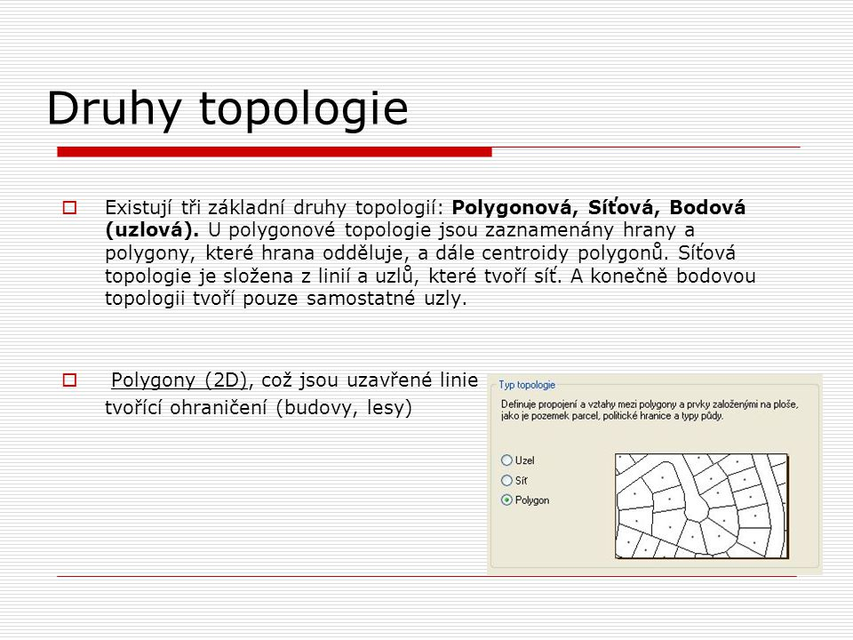 Druhy topologie