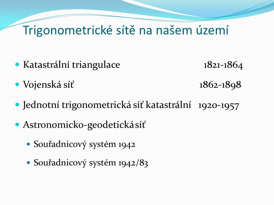 Trigonometrické sítě na našem území