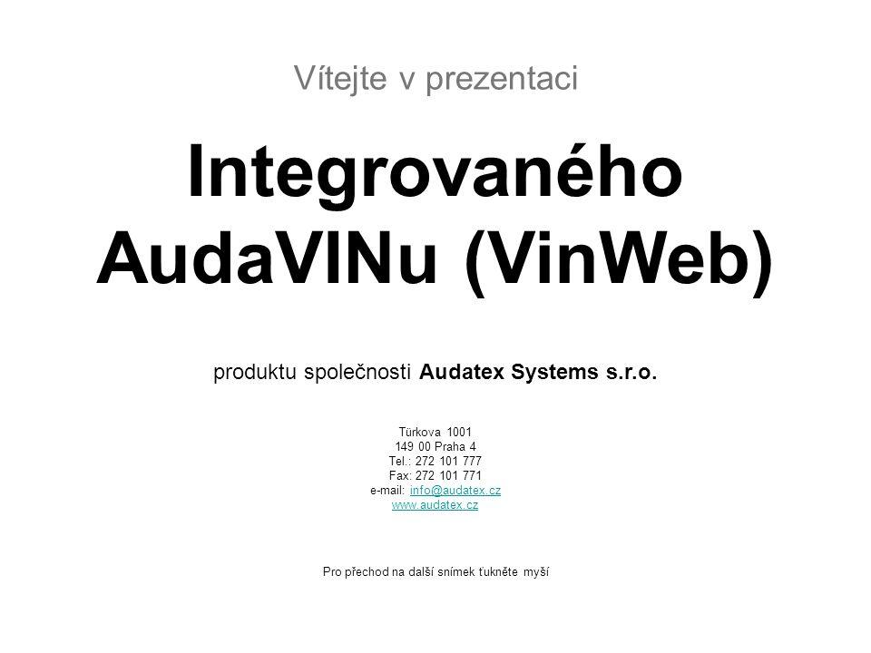 Integrovaného AudaVINu (VinWeb)