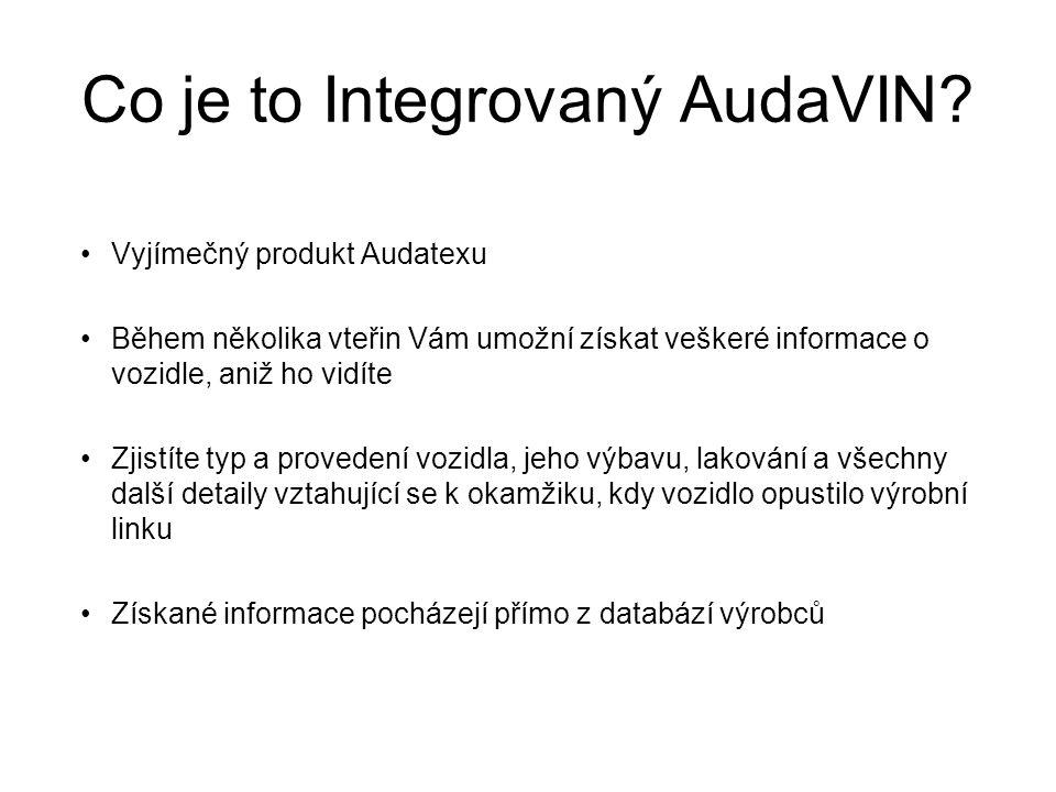Co je to Integrovaný AudaVIN