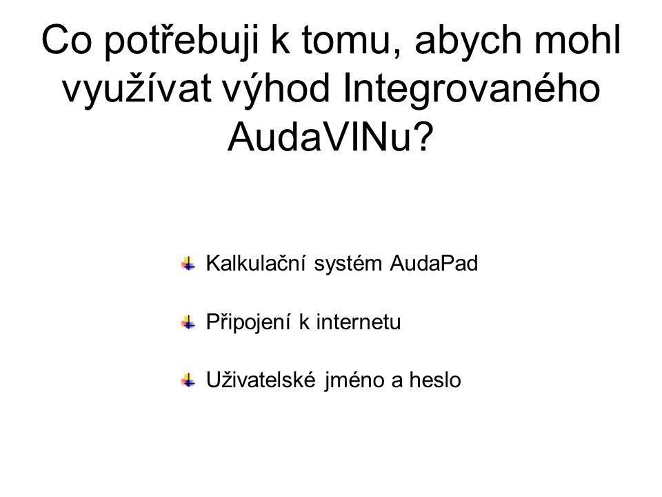 Co potřebuji k tomu, abych mohl využívat výhod Integrovaného AudaVINu