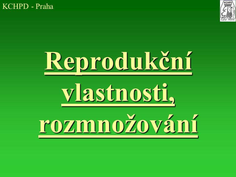 Reprodukční vlastnosti, rozmnožování