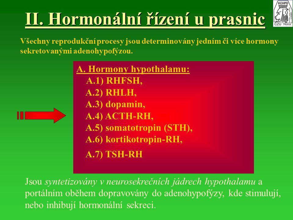 II. Hormonální řízení u prasnic