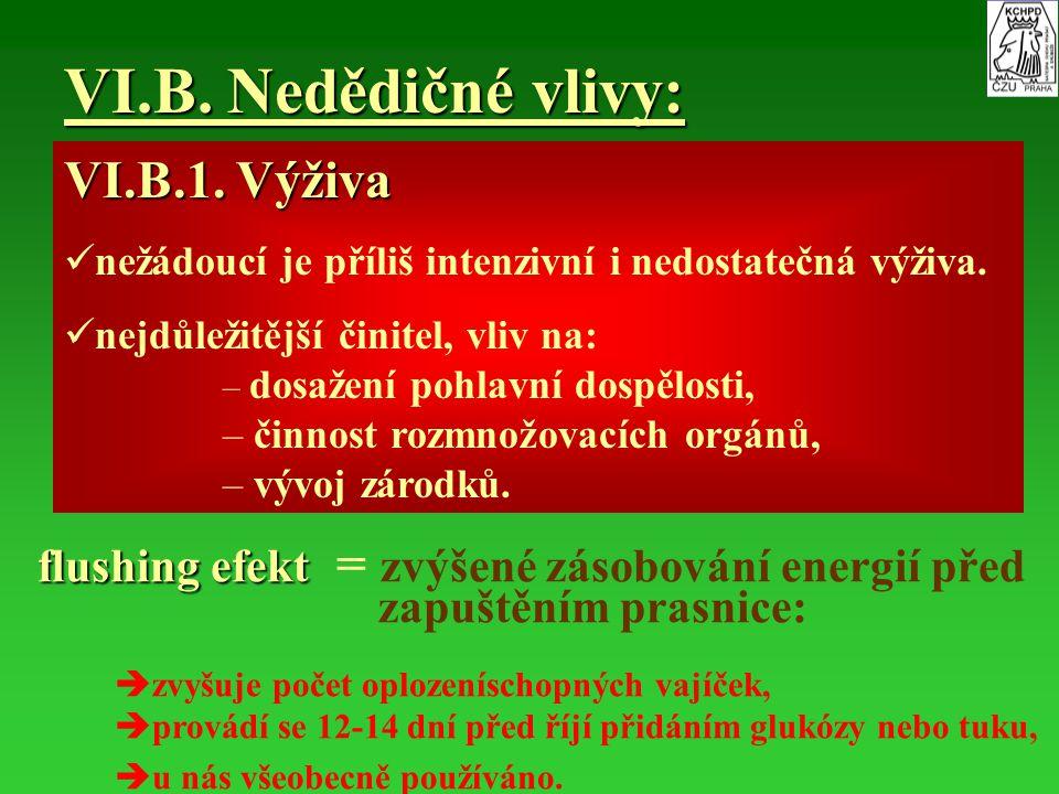VI.B. Nedědičné vlivy: VI.B.1. Výživa