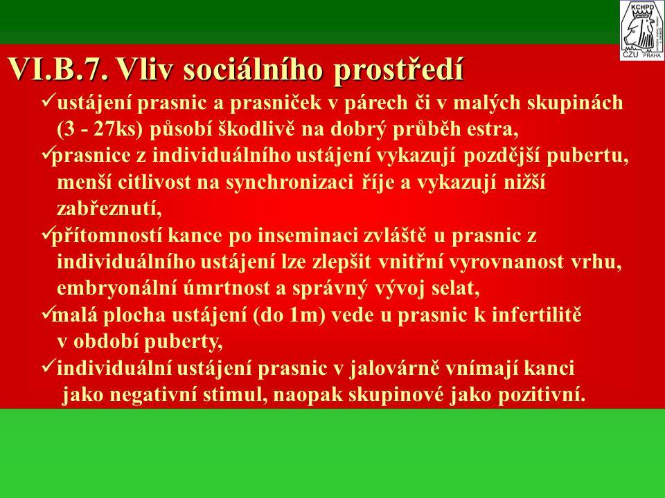 VI.B.7. Vliv sociálního prostředí
