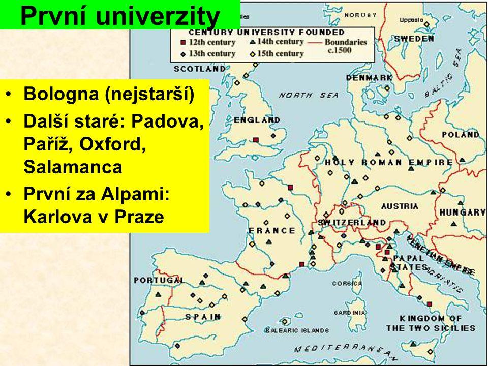 První univerzity Bologna (nejstarší)