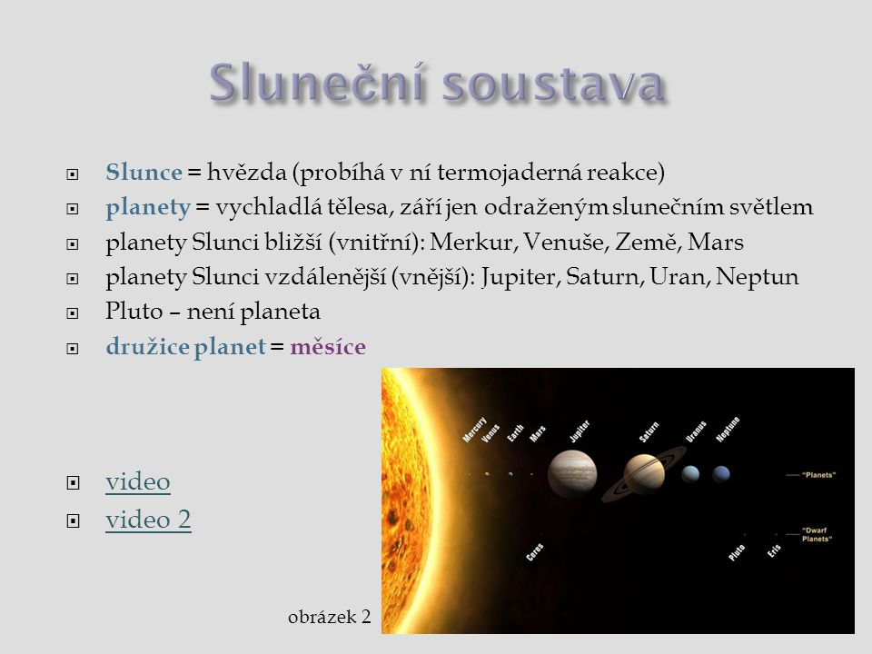 Sluneční soustava video video 2