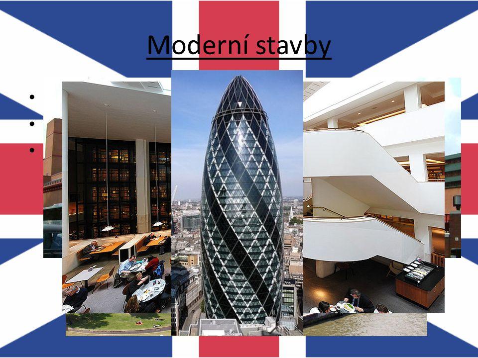 Moderní stavby City Hall Britská knihovna – přes 150 000 000 položek