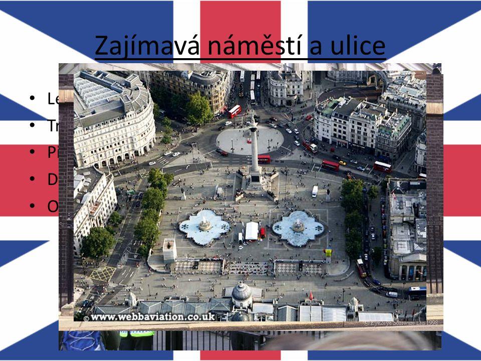 Zajímavá náměstí a ulice