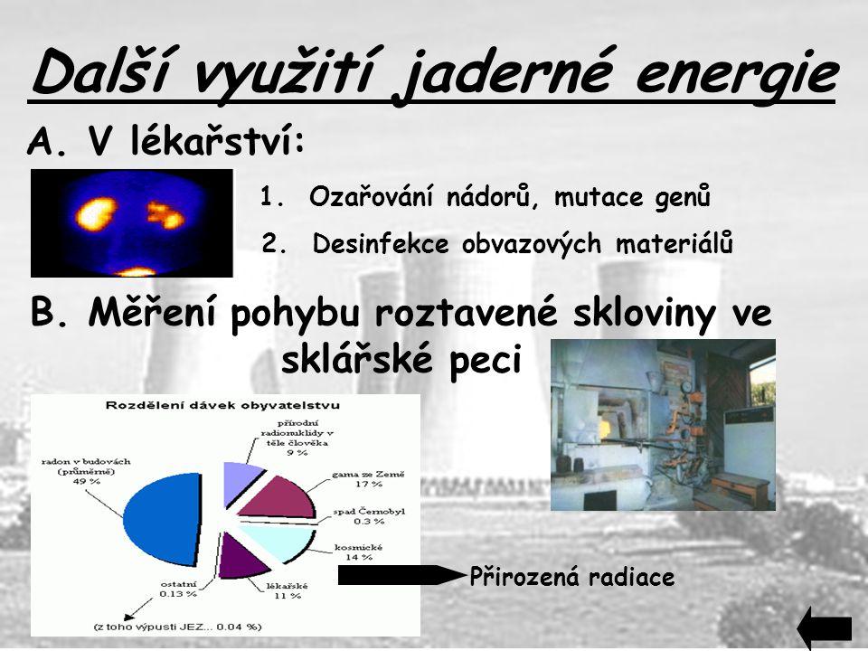 Další využití jaderné energie