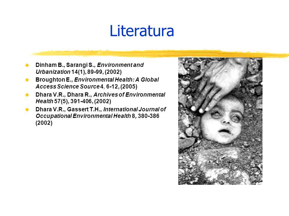 Literatura Dinham B., Sarangi S., Environment and Urbanization 14(1), 89-99, (2002)