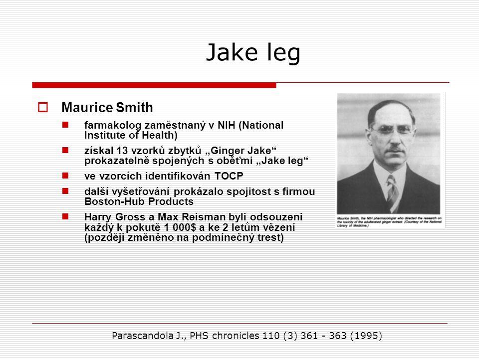 Jake leg Maurice Smith. farmakolog zaměstnaný v NIH (National Institute of Health)
