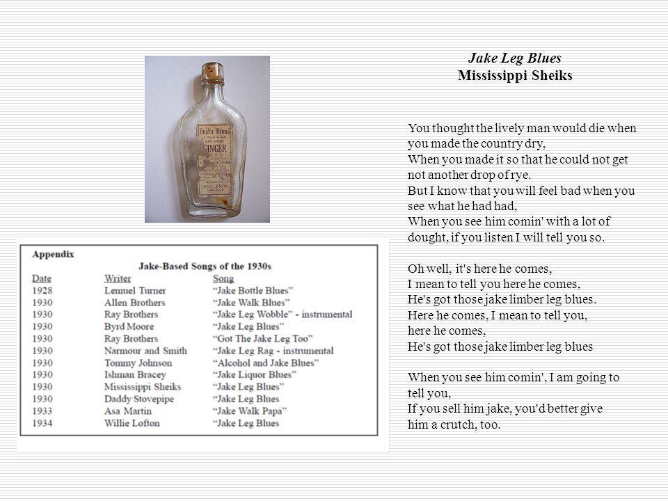 Jake Leg Blues Mississippi Sheiks