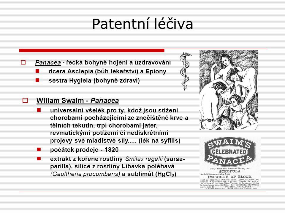 Patentní léčiva Wiliam Swaim - Panacea