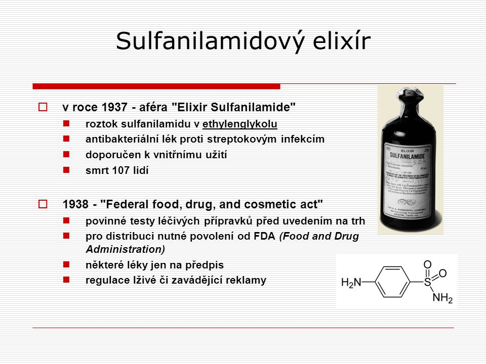 Sulfanilamidový elixír