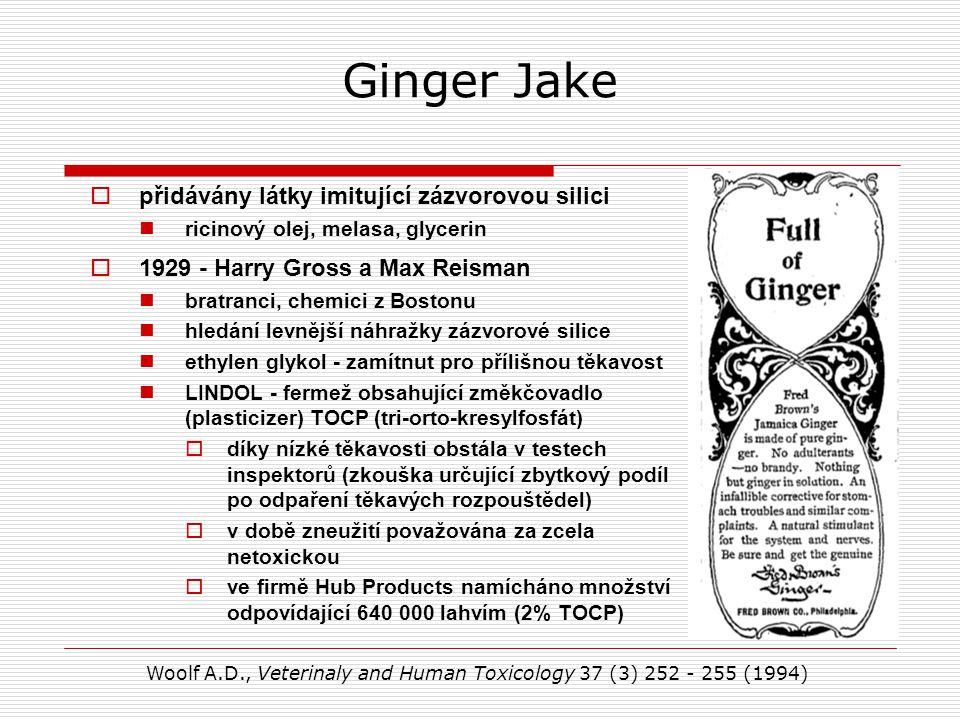 Ginger Jake přidávány látky imitující zázvorovou silici