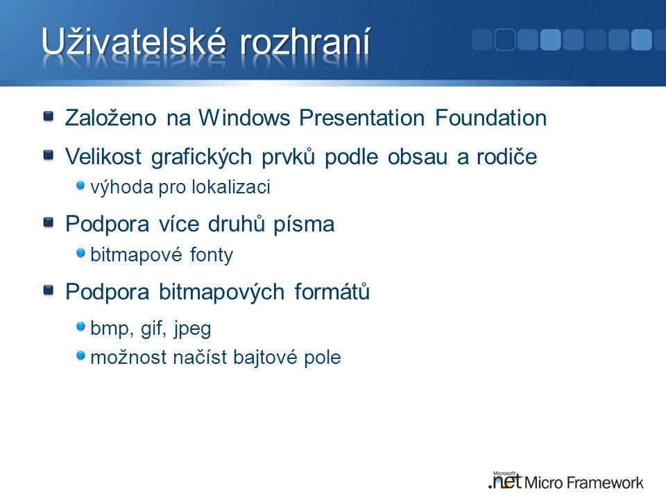 Uživatelské rozhraní Založeno na Windows Presentation Foundation