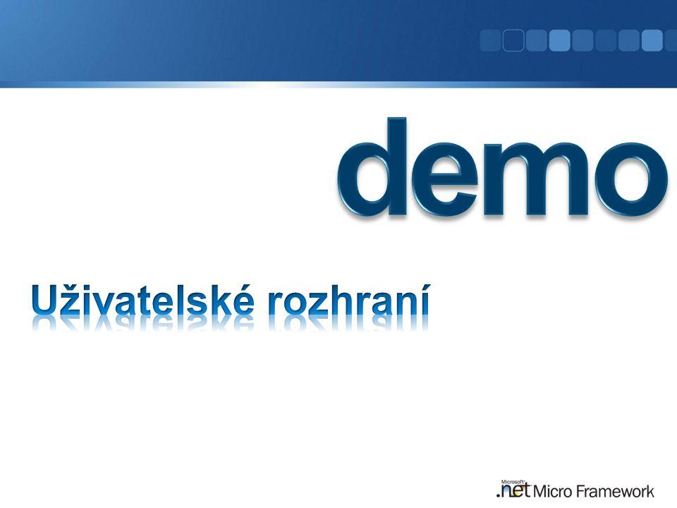 demo Uživatelské rozhraní